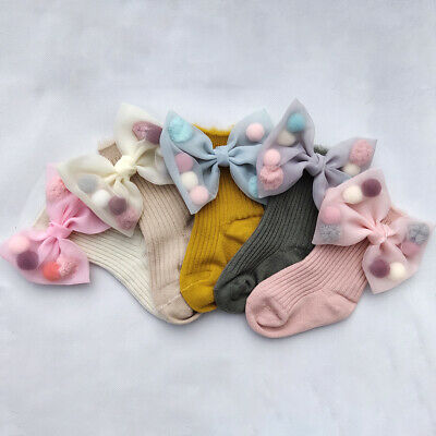 Baby Girl Big Bow Sock Newborn Infant Knee High Tutu Socks Children School Socks