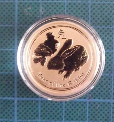 1/2 Oz Perth Mint Gold 2011 Lunar series, Year of the Rabbit, BU.
