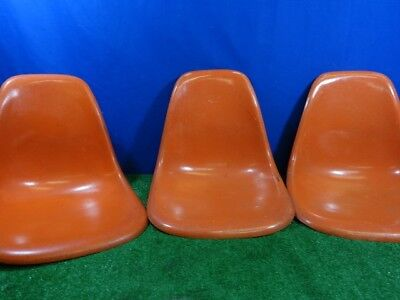 3 Eames Herman Miller Fiberglass Shell Chairs