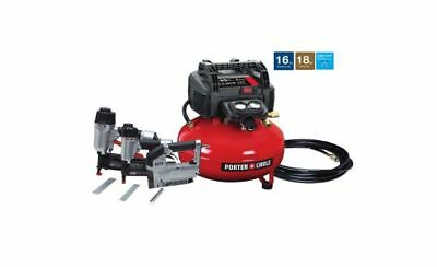 New Portable Electric Air Compressor, 16-18-Gauge Nailer and 3/8 6 Gal. 150 PSI
