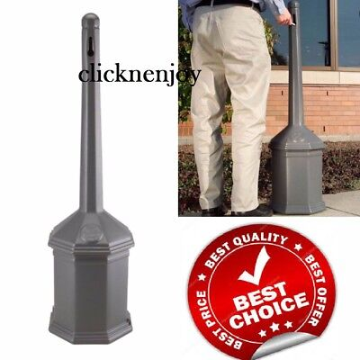 "42"" Gray Site Saver Outdoor Ashtray Cigarette Receptacle smoking ash tray NO TAX"