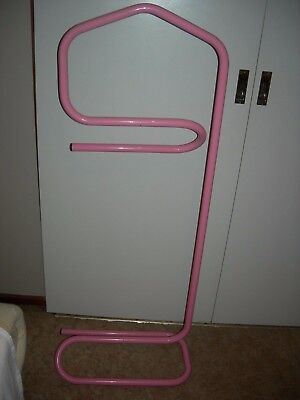 Vintage Pink Clothes Valet Stand