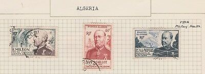ALGERIA on Old Book Page, 1954 Military Health etc USED as per scan #