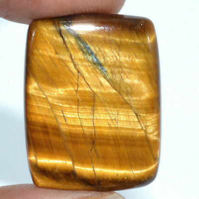 Cts. 27.15 Natural Chatoyant High Grade Tiger Eye Cabochon Baguette Gemstone