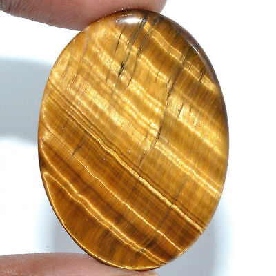 Cts. 30.45 Natural Chatoyancy Tiger Eye Cabochon Oval Cab Exclusive Gemstone