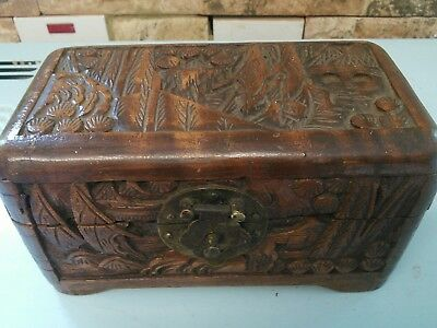 Vintage chinese wooden box.  fabulous condition