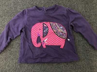 Very pretty Jojo Maman Bebe Baby Girls life no sleeve Top age 6-12 Months.