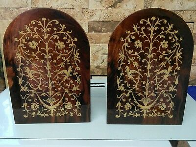 vintage wooden bookends    fabulous condition