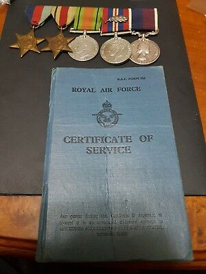 WW2 War Medals And RAF Certificate Of Service