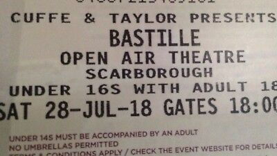 4 Bastille tickets - Scarborough