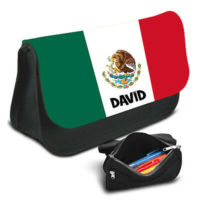 Mexico Personalised Pencil Case Game School Bag Kids Stationary