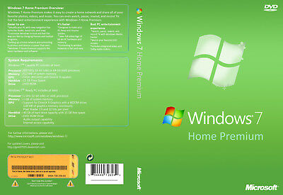 Windows 7 Home Premium 32-bit and 64-bit ISO Digital Download - No Product Key