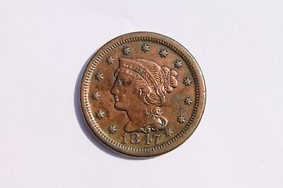 1847 Large Cent small date #LC631