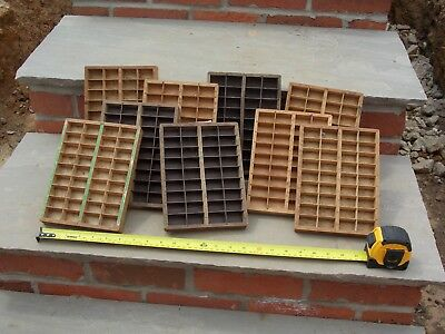 """Small printers letterpress drawers 8.5"""" x 6"""" (nine on offer)"""