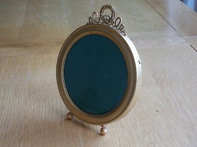 Quality Antique Victorian French Gilt Circular Easel Photo Picture Frame