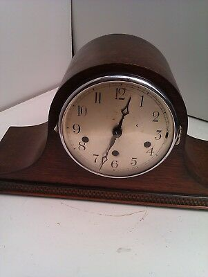 An Old Napoleon Hat Westminster Chime Mantle Clock In Full Working Order
