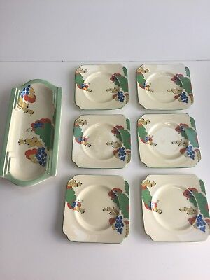 Royal Doulton, Caprice Art Deco Plates - Early 1900's