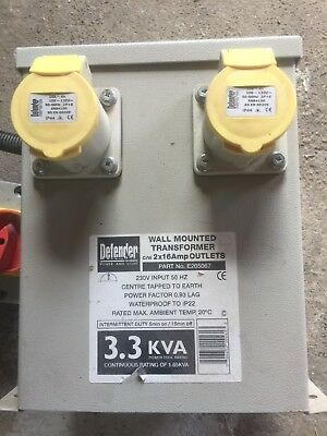 Wall Mounted Transformer 2 X 16 Amp Outlets