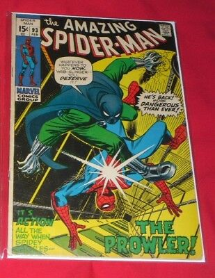 Amazing Spiderman 93# 1971 The Lady And The Prowler !