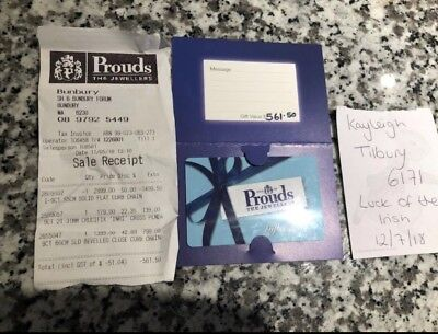 $561.50 Gift Card/Voucher Prouds The Jewellers