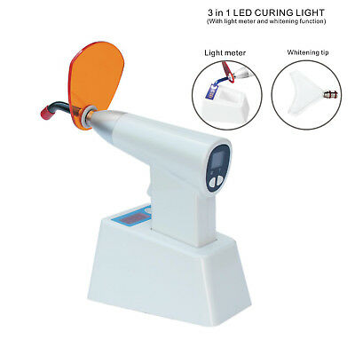 Dental LED Curing Light Cure Light Cure Lamp with Light Meter Whitening Tip