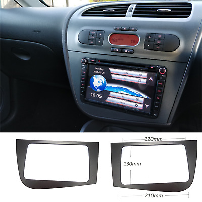Seat Leon Double 2 DIN Stereo Radio Head Unit GPS Surround PLATE PANEL