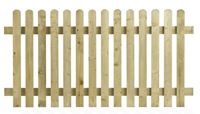 Heavy Duty Pressure Treated 6/'x3/' Round Top Picket Fence Panel