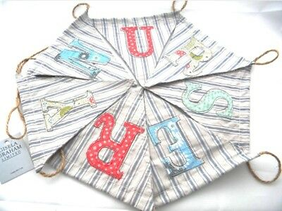 New Baby Vintage Nursery Bunting Garland Banner Wall Decoration Gisela Graham