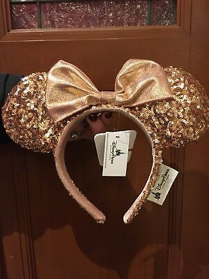 AUTHENTIC ROSE GOLD minnie mouse ears headband Disney World Parks SOLD OUT