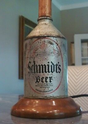 Schmidt's Of Philadelphia Crowntainer Beer Can Lamp -  Free Shipping In Us
