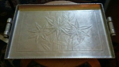 Vintage Arthur Armour Large Hammered Aluminum Serving Trays Lot Of 10 All Marked