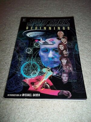 """Star Trek The Next Generation """"Beginnings"""" Graphic Novel TPB, 160 Pages, 1995"""