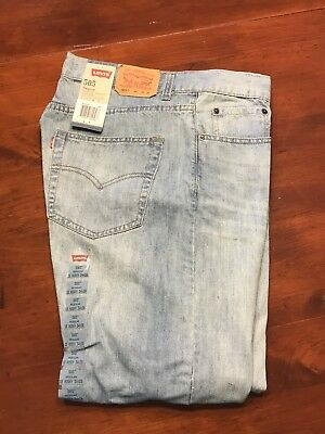 Levis 505 Regular Fit Boys Jeans 16 Husky 34x28 Straight Leg New With Tags