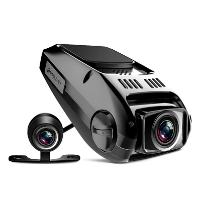 Dual Dash Cam Full HD1080P 170 Wide Angle Dashboard Camera Recorder G-Sensor