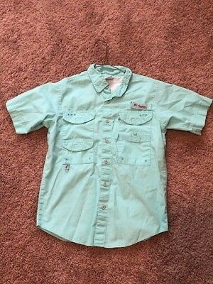 Boys COLUMBIA PFG Short Sleeve Shirt Size MEDIUM