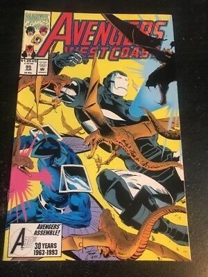 Avengers West Coast#95 Incredible Condition 9.4(1993) Luke Ross Art!!