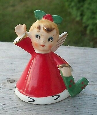 "Vintage Christmas Napco Japan 1956 ""L"" Angel Girl Bell for NOEL Replacement Nr"