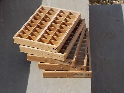 """Letterpress drawers - small - approx 8.5"""" x 6"""" (6 in total)"""