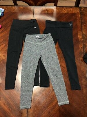 Justice Size 5 Leggings Lot Of 3