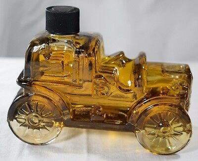 Vintage AVON Car Decanter Bottle Amber Tai Winds After Shave Full             17