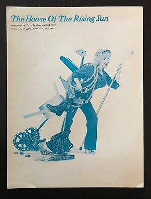 The House of the Rising Sun * Dolly Parton * 1980 Vintage Sheet Music