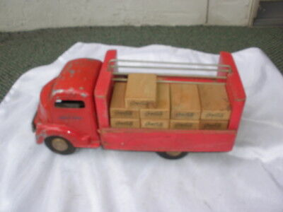 Vintage Early Smitty Smith Miller Coca-Cola Delivery Truck w/ 9 Cases