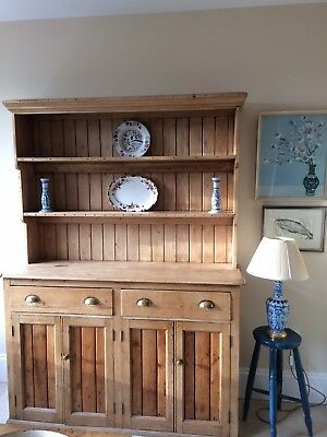 Lovely antique vintage pine dresser with cupboards/drawers - very good condition