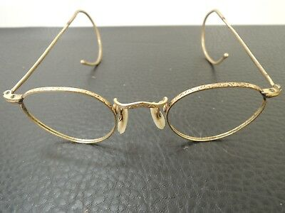 Antique ALGHA gold plated  Spectacles Eye glasses signed c.1930s