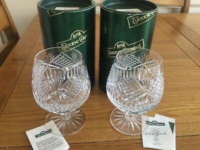 "Pair Tyrone Crystal ""SLIEVE DONARD"" Brandy Glass brand new never used boxed"