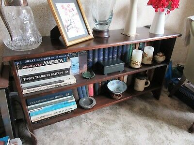 Shabby Chic Antique Low Edwardian Bookcase Display Shelves