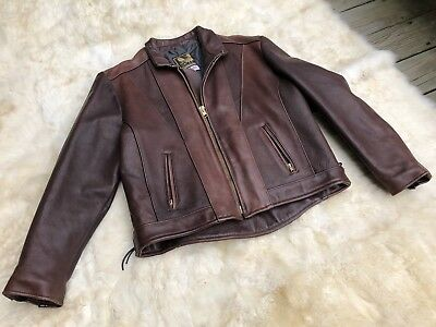 Usa Made Co. X/heavy Hand Made Motorcycle Jacket Size Mens 48 Brown