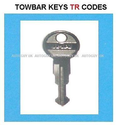 Witter Towbar Keys Cut To Code Number  ( Tr01 To Tr10 ) Available - Free Uk P+P