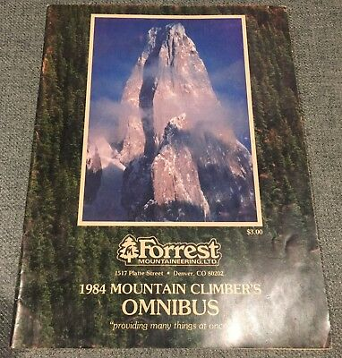 Rare 1984 Omnibus Catalog and Guide to Climbing Forrest Mountaineering