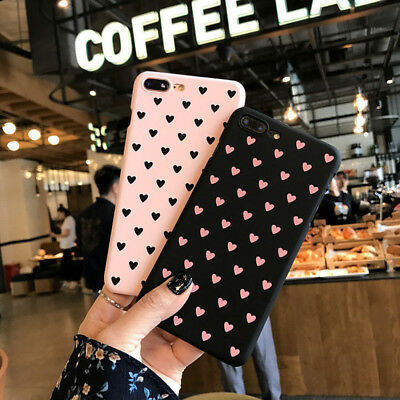 Ultra Slim Heart Pattern Hard Case Cover For Apple iPhone X 8 6s 7 Plus SE 5s S9